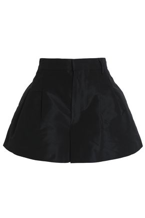 REDValentino Pleated faille shorts
