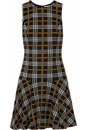 ALICE + OLIVIA Fonda checked jacquard mini dress