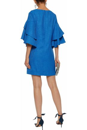 BADGLEY MISCHKA Ruffled woven mini dress