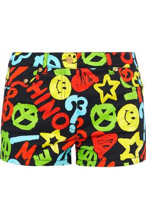 MOSCHINO Printed denim shorts