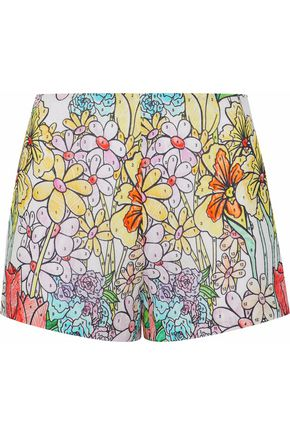 MOSCHINO Printed cotton-gauze shorts