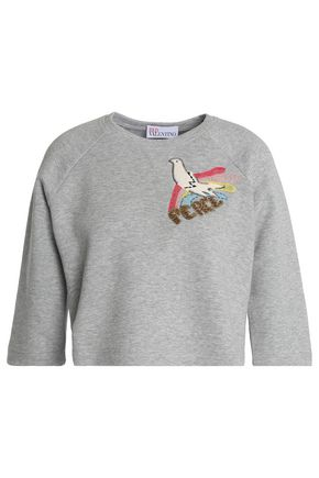 REDValentino Cotton-blend terry sweatshirt