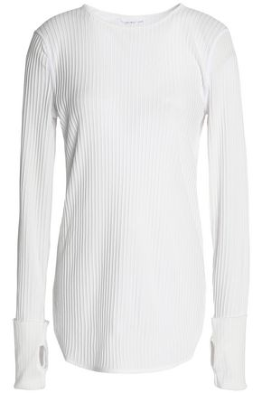 HELMUT LANG Ribbed cotton-jersey top