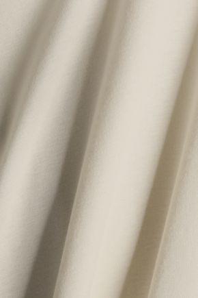HELMUT LANG Cutout modal and cotton-blend jersey top