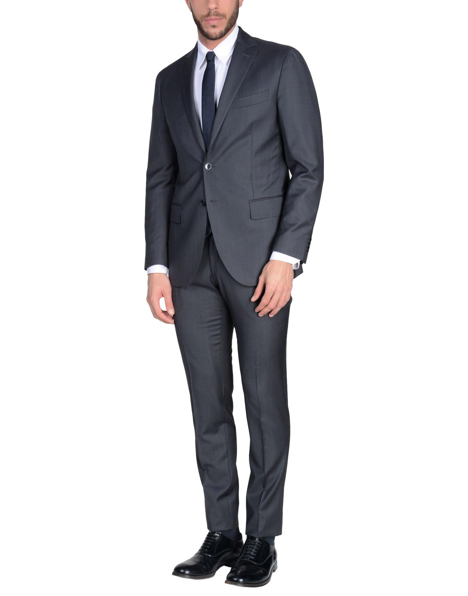 《送料無料》GLENBROOK メンズ スーツ スチールグレー 50 ウール 100%