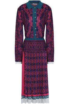 MARY KATRANTZOU Pleated jacquard-knit midi dress