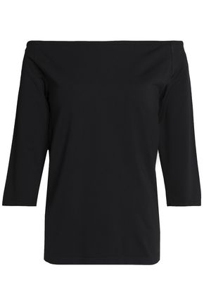 HELMUT LANG Off-shoulder stretch-jersey top