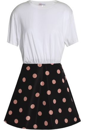 REDValentino Printed cotton-jersey mini dress
