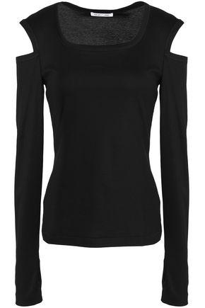 HELMUT LANG Cold-shoulder cotton-jersey top