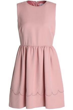 REDValentino Pleated cotton-blend crepe mini dress