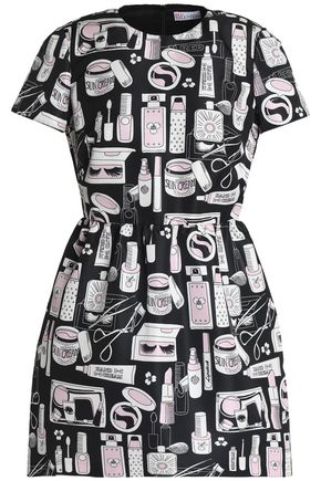 REDValentino Printed faille mini dress