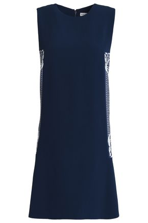 MARY KATRANTZOU Printed-paneled crepe mini dress