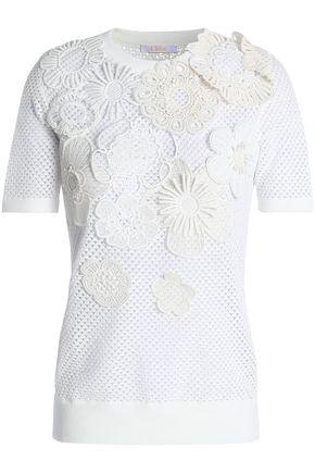 CHLOÉ Pointelle-knit cotton top