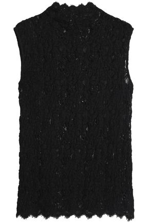 HELMUT LANG Scalloped lace top