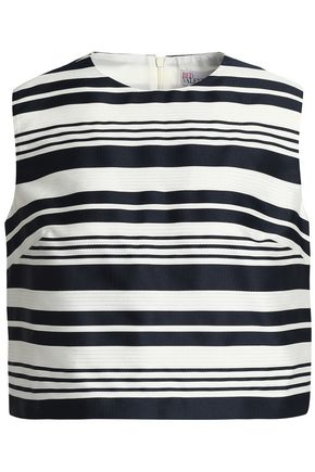 REDValentino Striped jacquard top