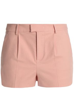 REDValentino Pleated cotton-blend shorts