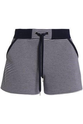 REDValentino Striped cotton-scuba shorts