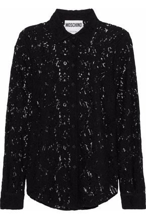 MOSCHINO Corded lace shirt