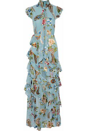ALICE+OLIVIA Lessie ruffled printed chiffon midi dress