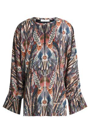 IRO Printed crepe blouse