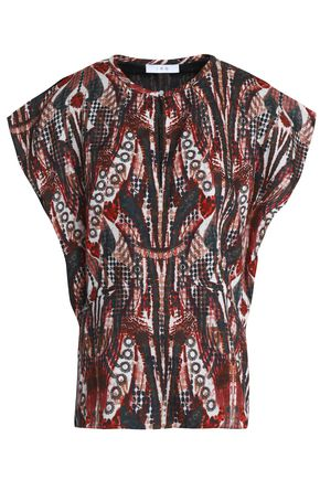 IRO Printed crepe top