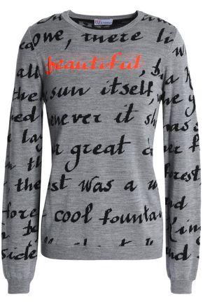 REDValentino Intarsia wool, silk and cashmere-blend sweater