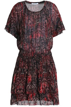 IRO Printed crepe de chine dress