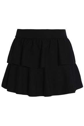 REDValentino Tiered wool mini skirt