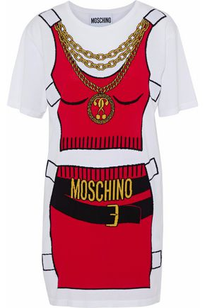 MOSCHINO Intarsia cotton mini dress