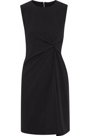 IRIS & INK Savannah twist-front crepe mini dress