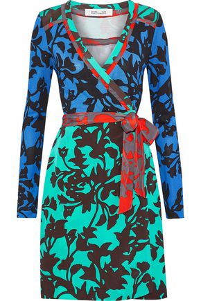 DIANE VON FURSTENBERG Floral-print silk wrap dress