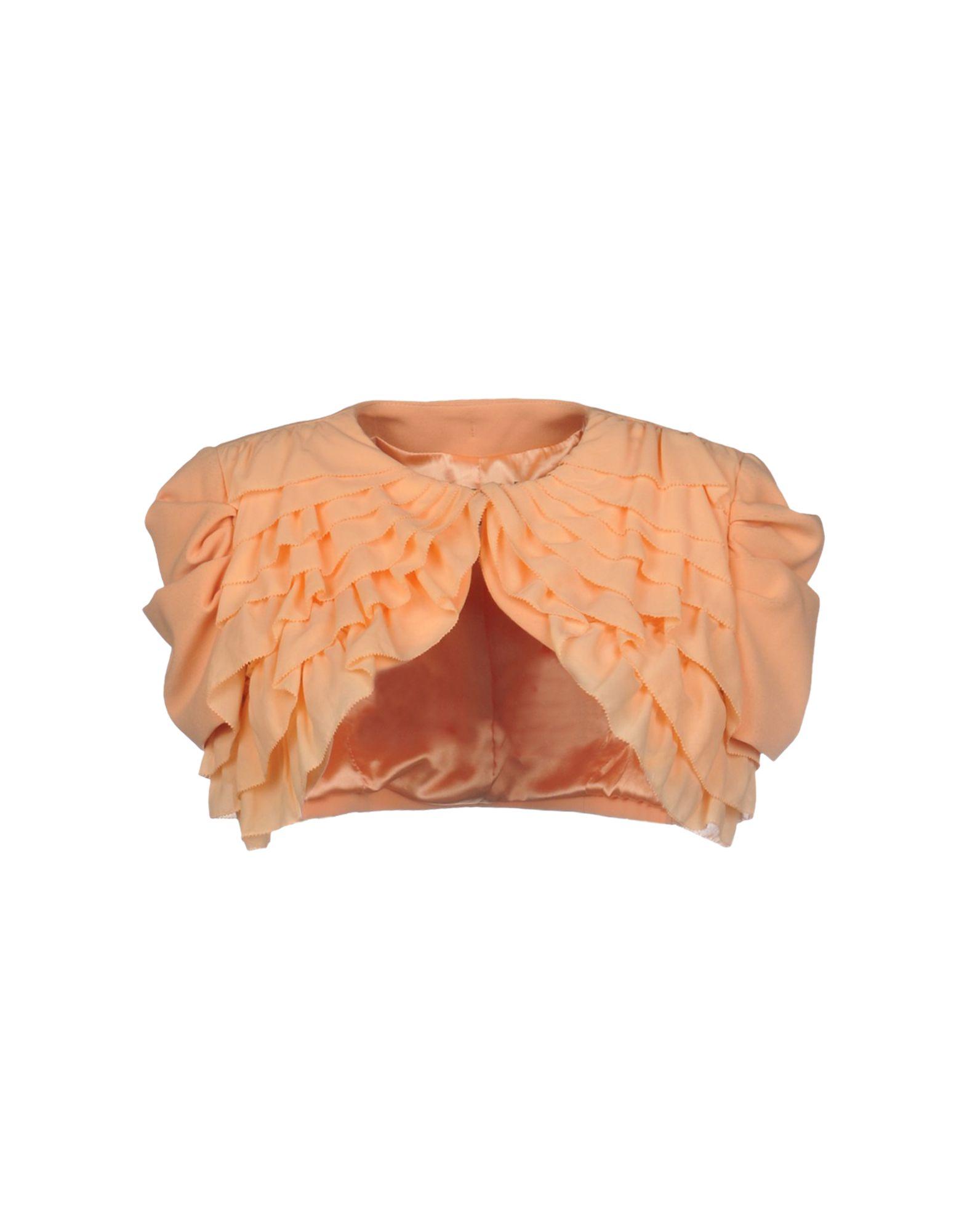 《期間限定セール開催中!》ELISABETTA FRANCHI レディース テーラードジャケット あんず色 40 ポリエステル 63% / レーヨン 32% / ポリウレタン 5%
