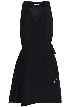 HOUSE OF DAGMAR Violet hammered-sateen mini wrap dress