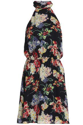 HAUTE HIPPIE Floral-print silk crepe de chine mini dress