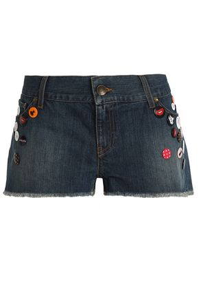 REDValentino Appliquéd denim shorts