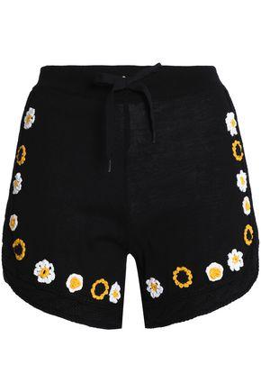 REDValentino Embroidered cotton shorts