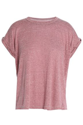 CURRENT/ELLIOTT Marled jersey T-shirt