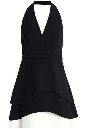 HALSTON HERITAGE Crepe mini dress