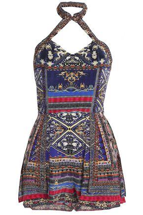 CAMILLA Printed silk playsuit