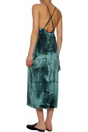 J BRAND Velvet midi dress