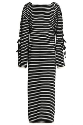 3.1 PHILLIP LIM Tie-detailed striped cotton-jersey maxi dress