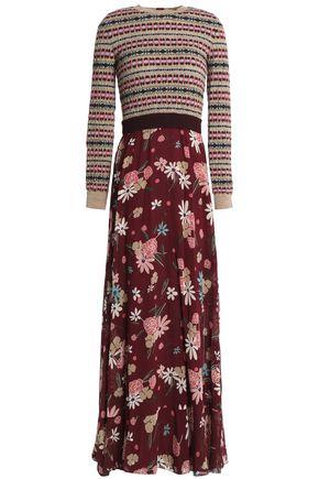 REDValentino Floral-print sik-georgette maxi dress