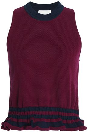 3.1 PHILLIP LIM Ruffle-trimmed knitted top