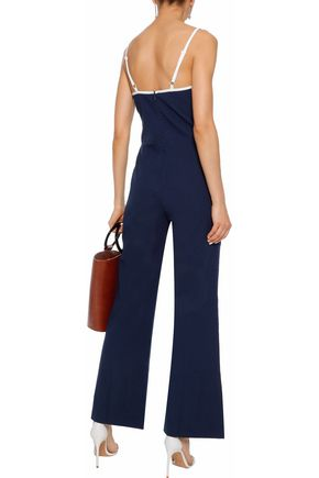 STAUD x SOLID & STRIPED The Breeze cotton-seersucker jumpsuit