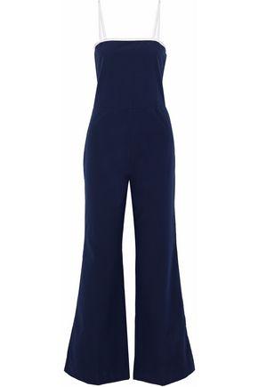 STAUD x SOLID & STRIPED The Breeze cotton-seersucker jumpsuit