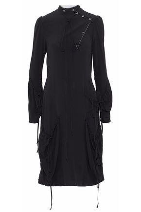 J.W.ANDERSON Bow-detailed washed-crepe dress