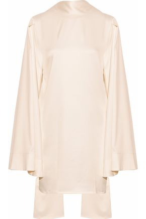 SOLACE LONDON Kinley cape-effect satin mini dress