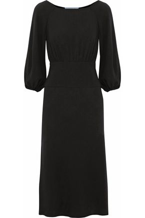 PRADA Gathered crepe dress