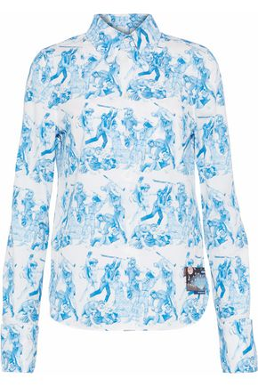 PRADA The Important Ones printed cotton-poplin shirt