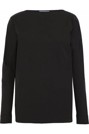 PRADA Cotton-blend poplin top